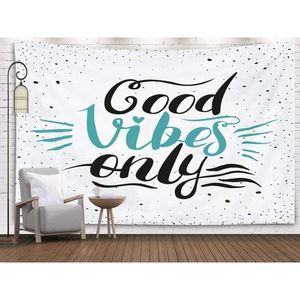 """copied-""""Good Vibes Only"""" Tapestry Wall Decor"""